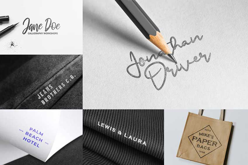Logo Mockups Collection