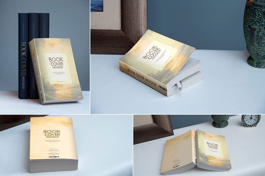 Softcover Book Mockups Template