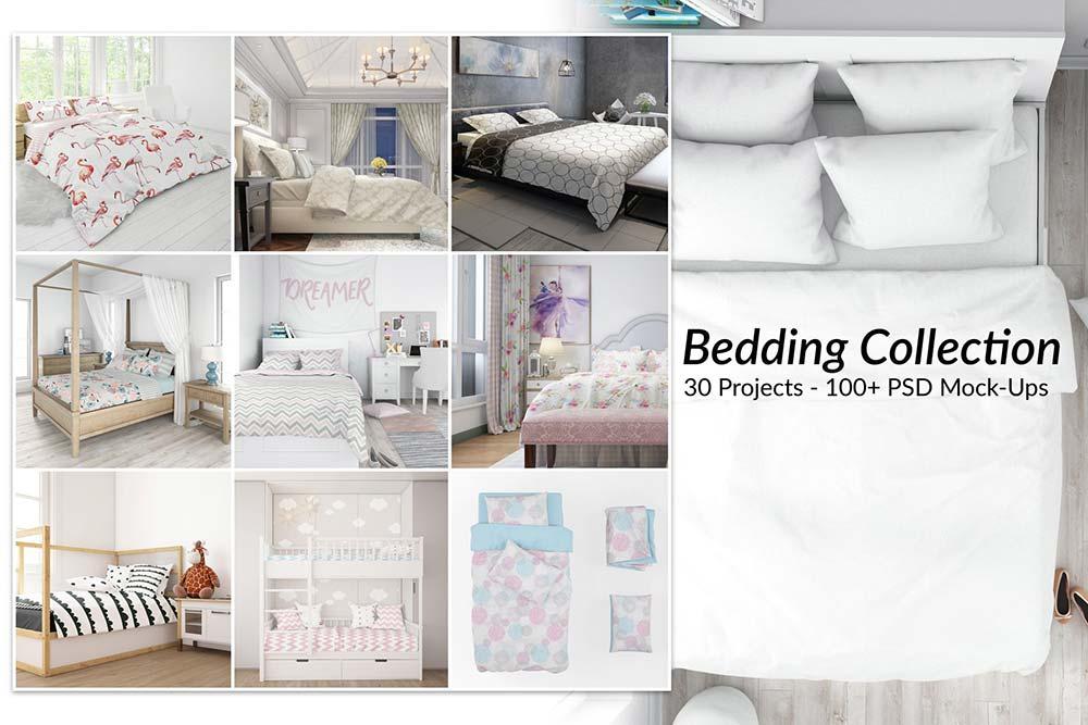 30 Bed Linens Bundle Mockups