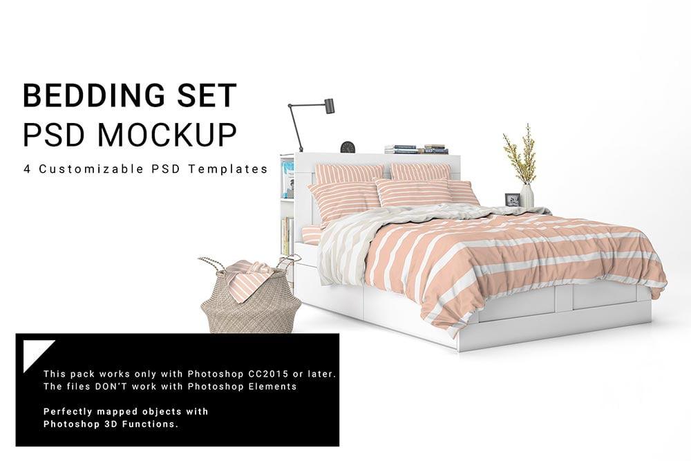 Bed Linens Mockup Set