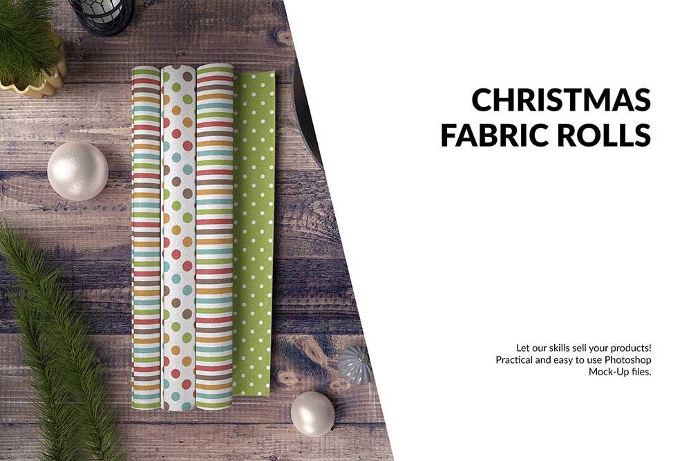 Christmas Fabric Rolls Set