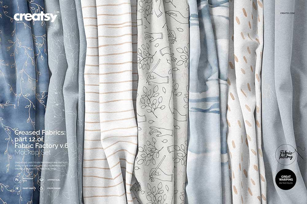 Creased Fabrics Mockup
