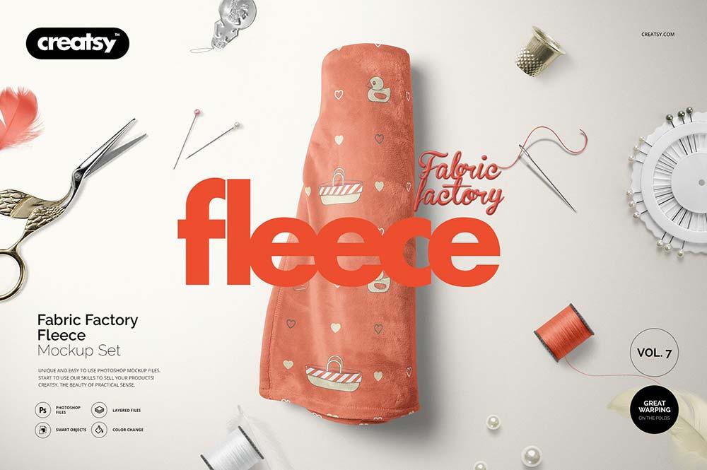Fabric Factory Fleece Mockup Set