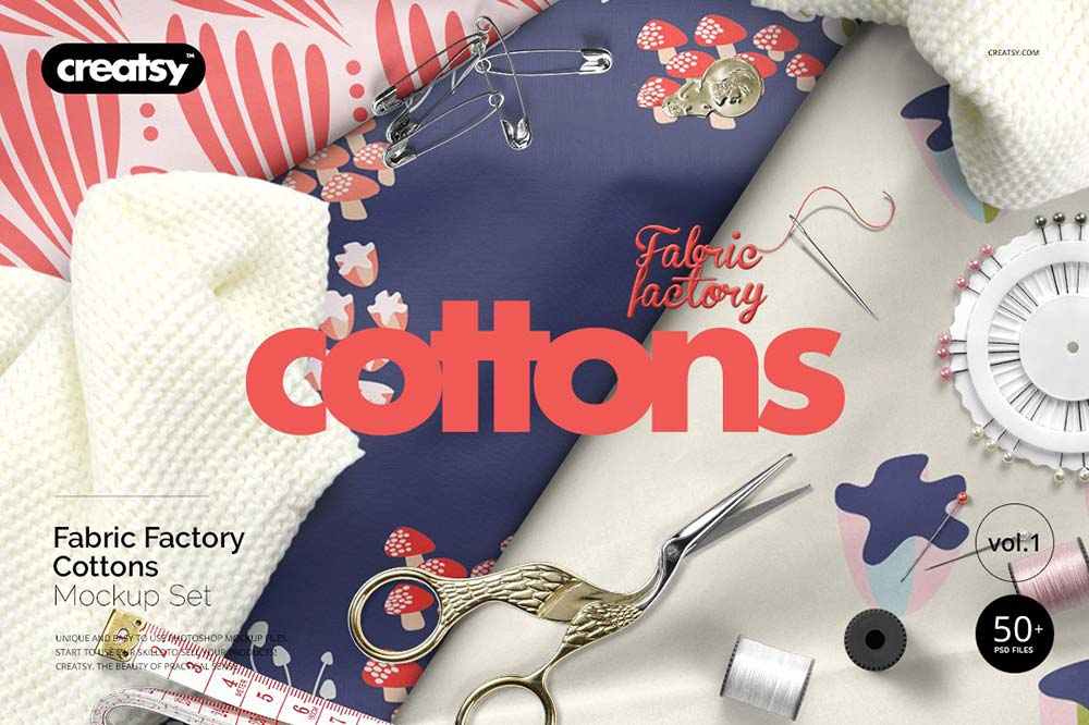 Fabric Factory Cotton Mockup