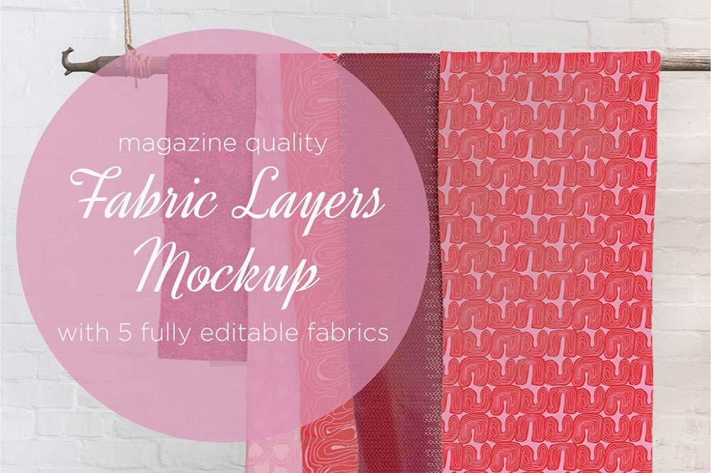 Fabric Layers Mockup