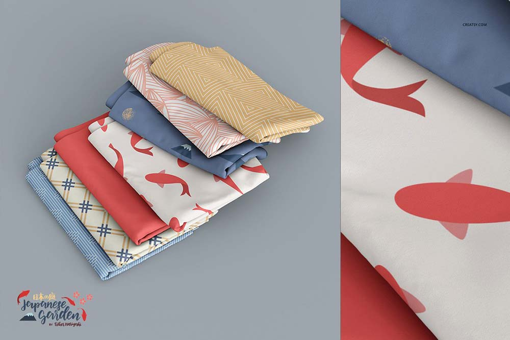 Fabric Stack Mockup Set