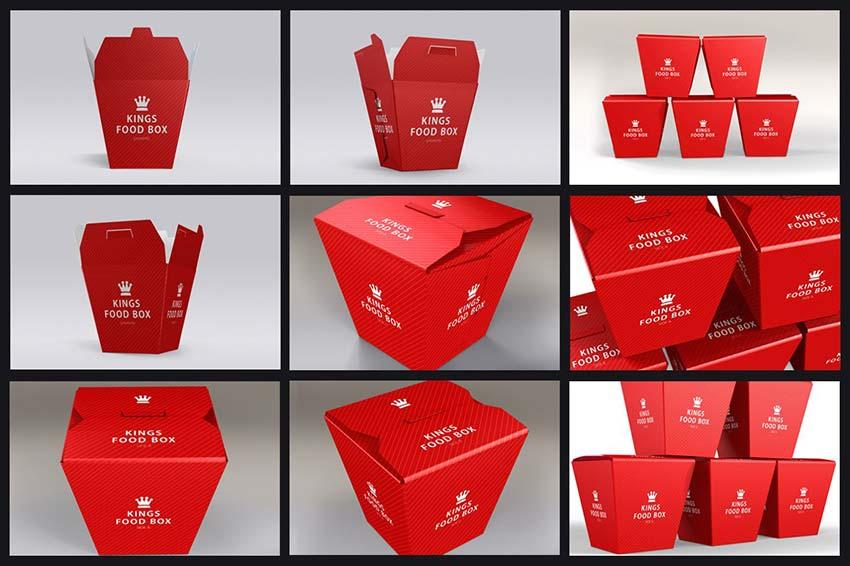Food Boxes Mock-ups Bundle
