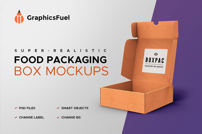 Food Packaging Box Mockups