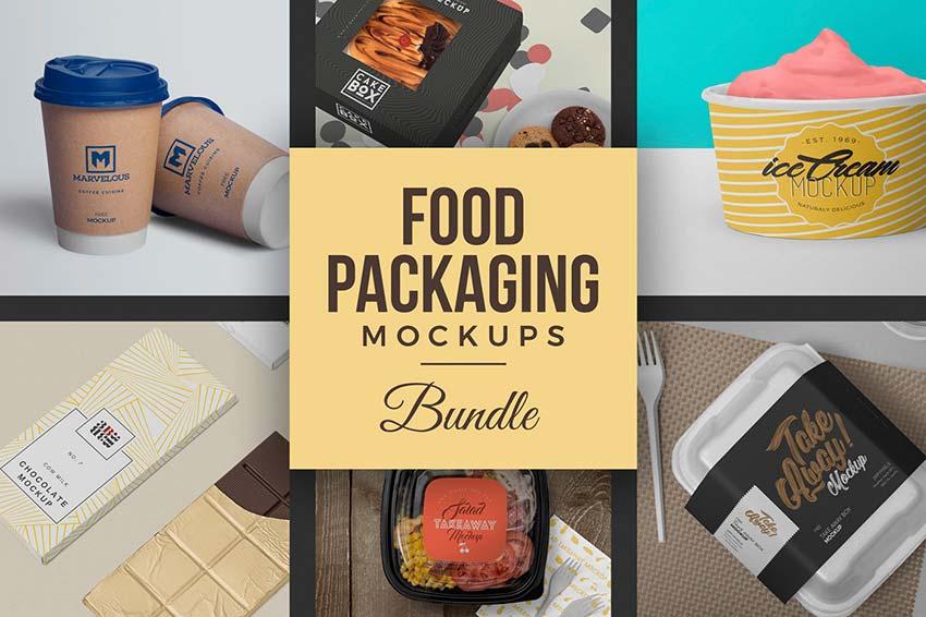 Food Packaging Mockups Bundle