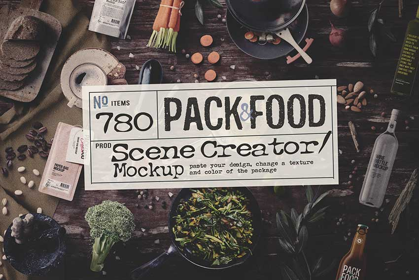 Pack & Food Mockup Creator