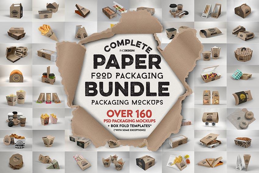 Paper Food Packaging Mockup Bundle
