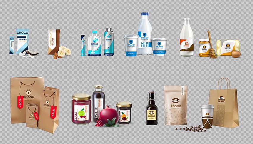 Vector Food Package Mockup