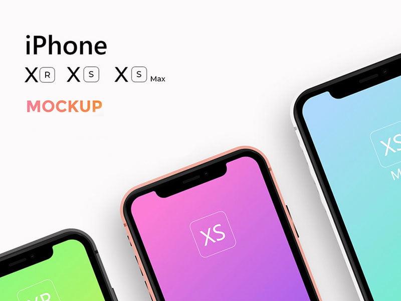iPhone X, iPhone XS, XS Max & XR Mockups