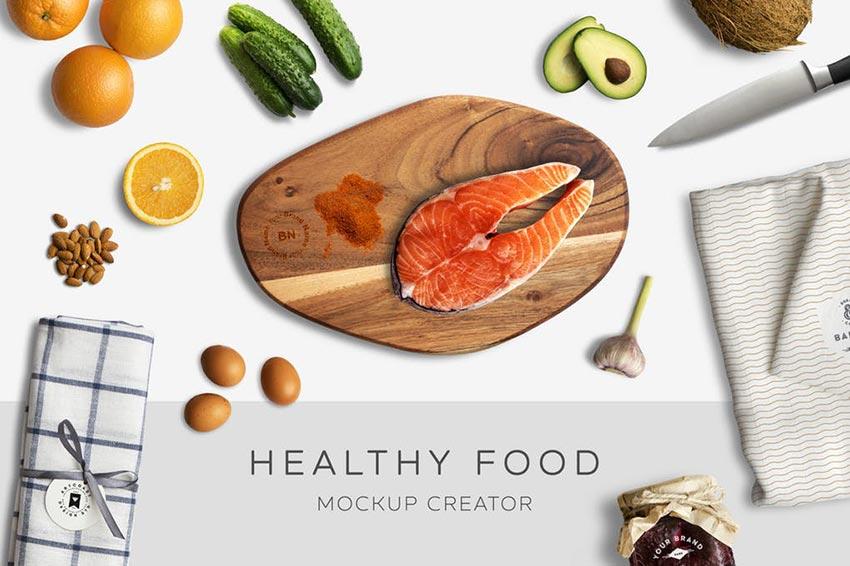 Healthy Food Mockup Creator