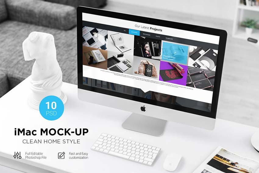 iMac Desk Mock-Up