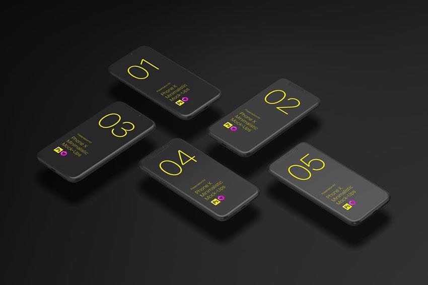Phone X Minimalistic Mock-Ups