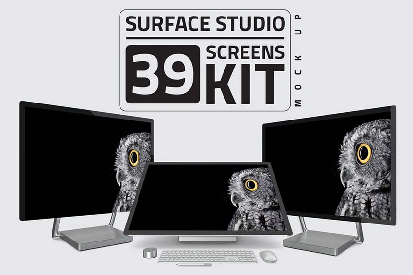 Surface Studio Kit Mockup