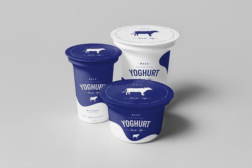 Yoghurt Cup Mock-up