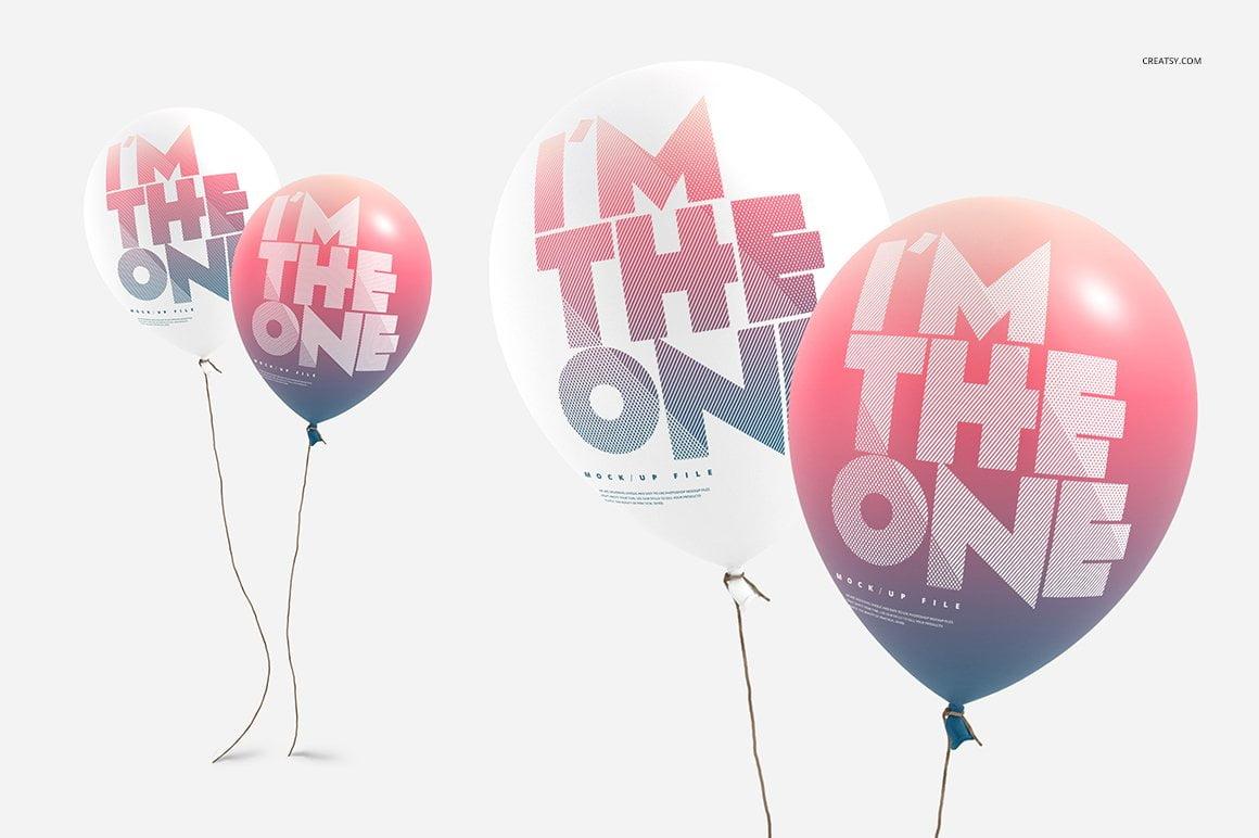 Balloon Mockup Set