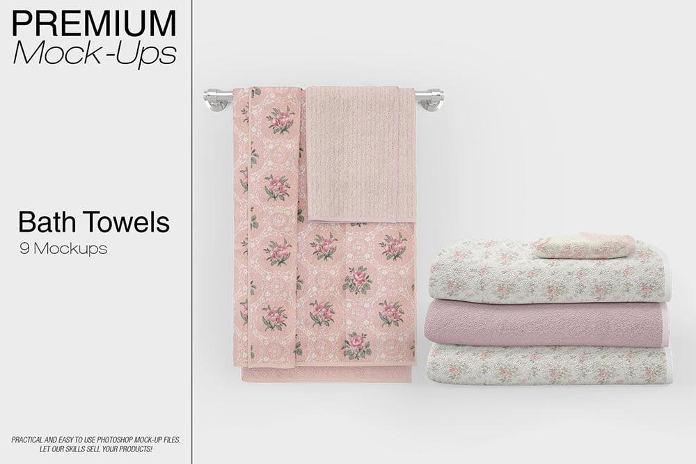 Bath Towels Mockup