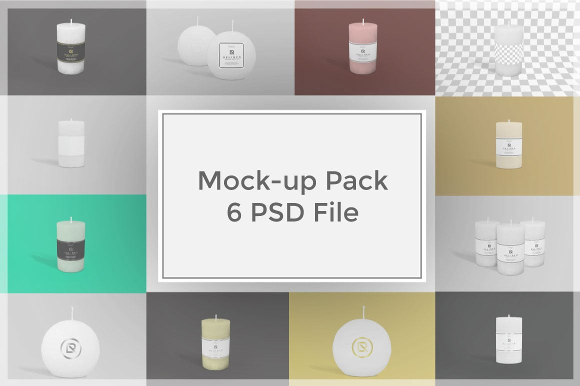 Candle Mock-up Pack