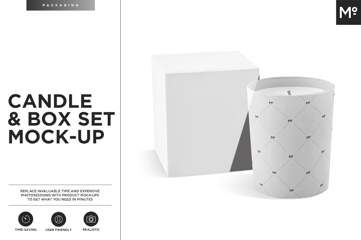 Candle and Box Set Mock-up
