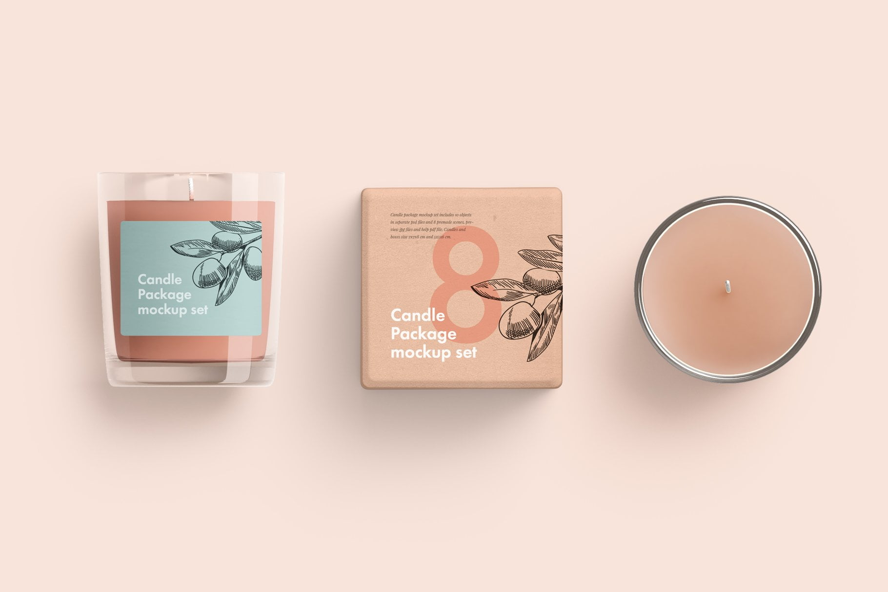 Candle glass and box packaging