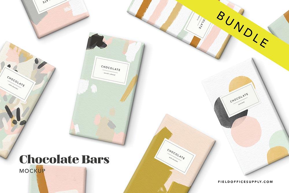 Chocolate Bar Mockup Bundle