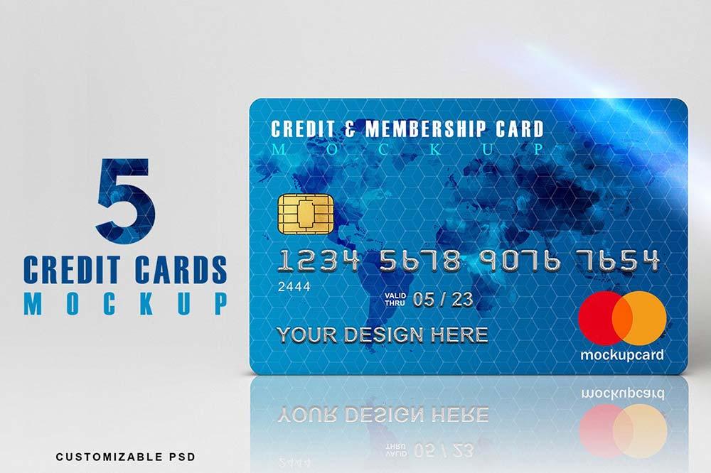 Credit Cards Mockup