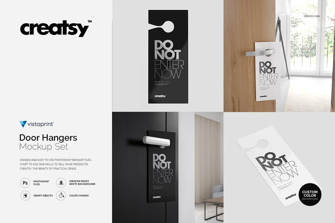 Door Hangers Mockup Set