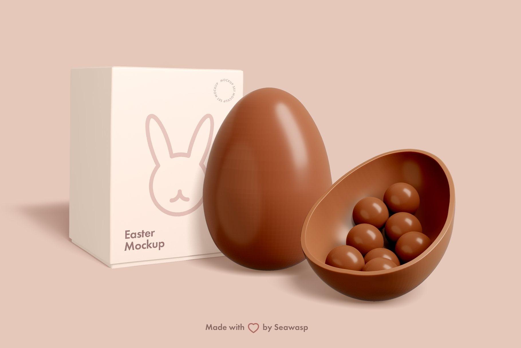 Easter Chocolate Package Mockup