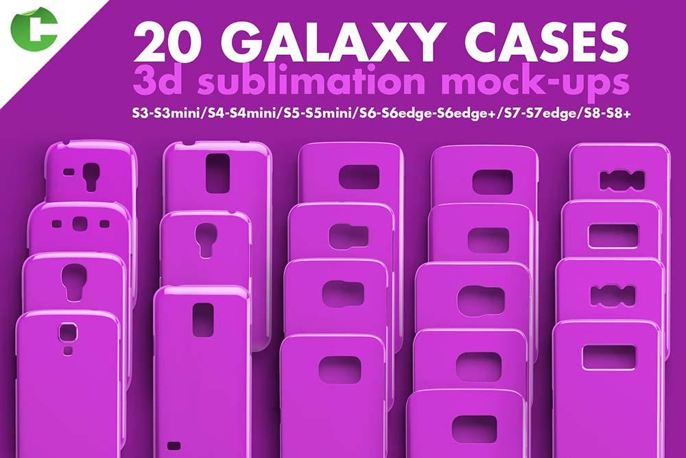 Galaxy Case Mockup 3d print