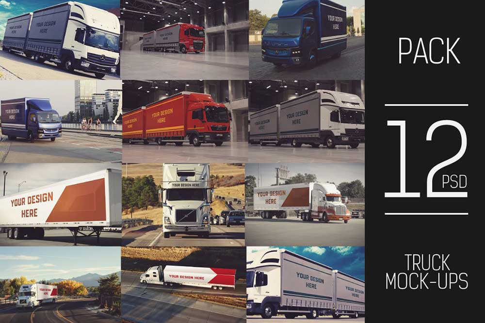 12 PSD Truck Trailer Mock-up