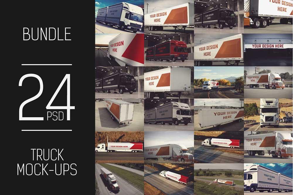 24 PSD Truck Trailer Mock-up