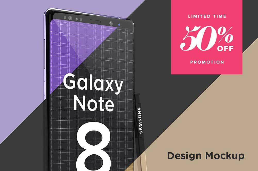 Samsung Galaxy Note 8 Design Mockup