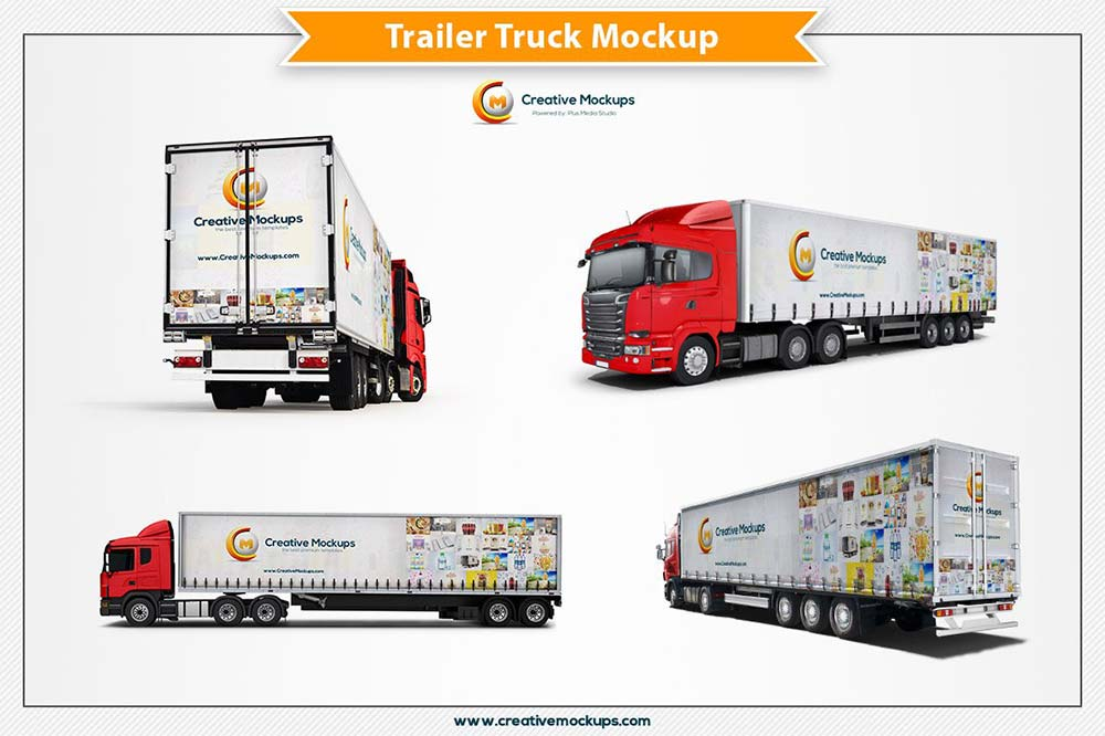 Trailer Truck Mockup