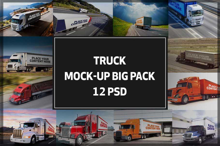 Truck Trailer Mockup Bigpack