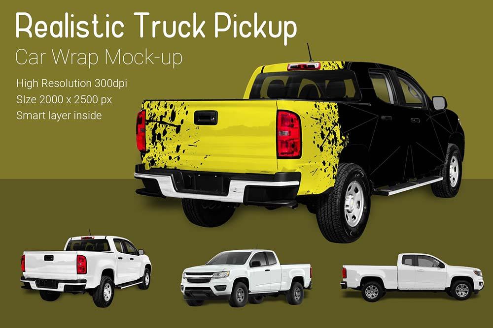 Truck Pickup Mockup