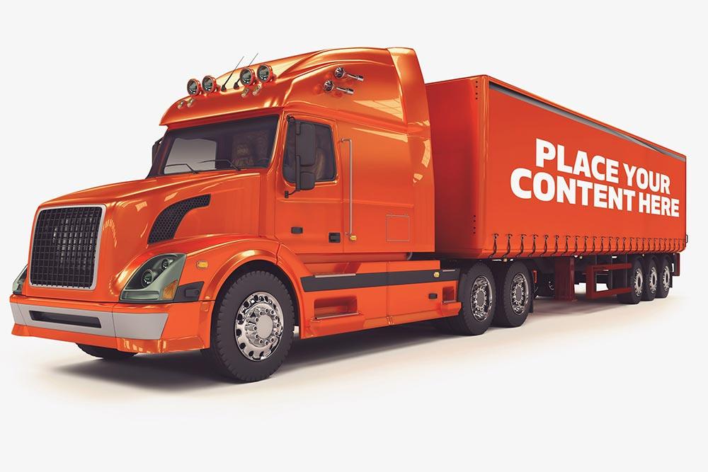 Realistic Truck Mockup PSD Templates
