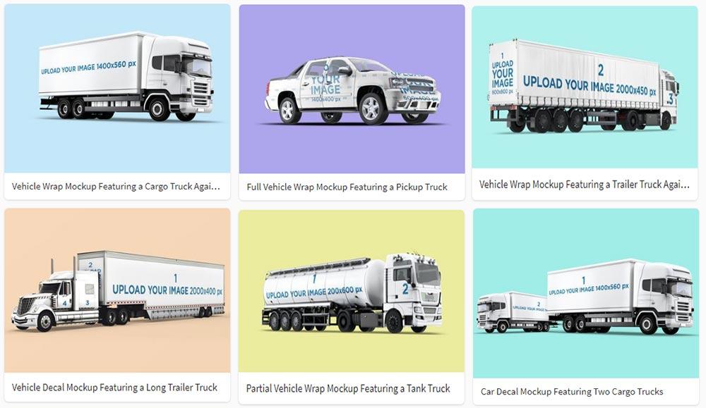 best Truck Mockup