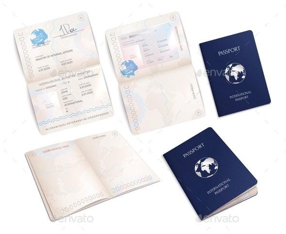 Biometric Passport Mockups