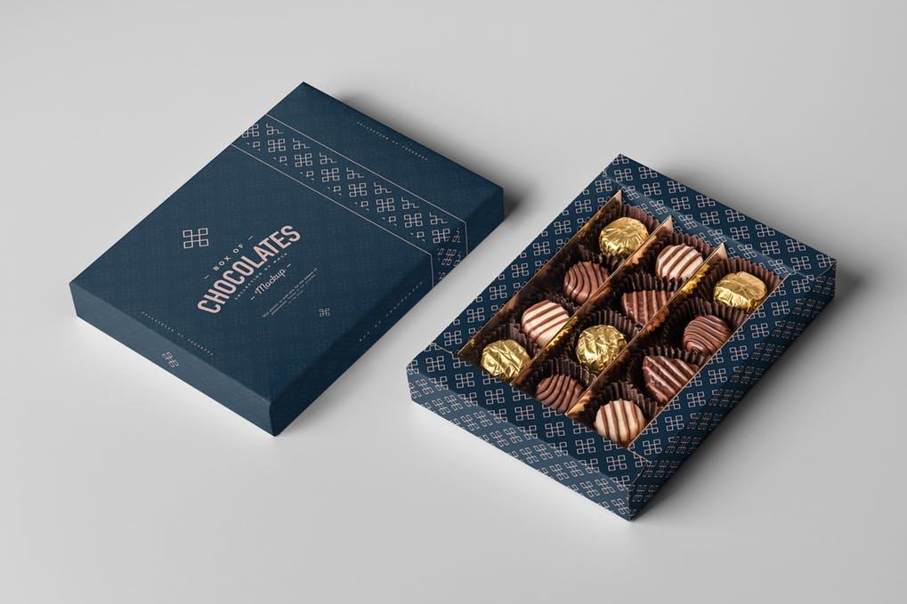 Chocolates Box Mock-up