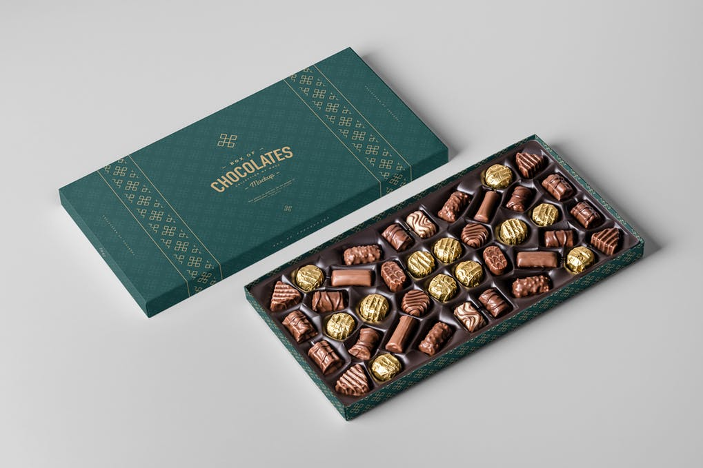 Chocolates Box Mockup