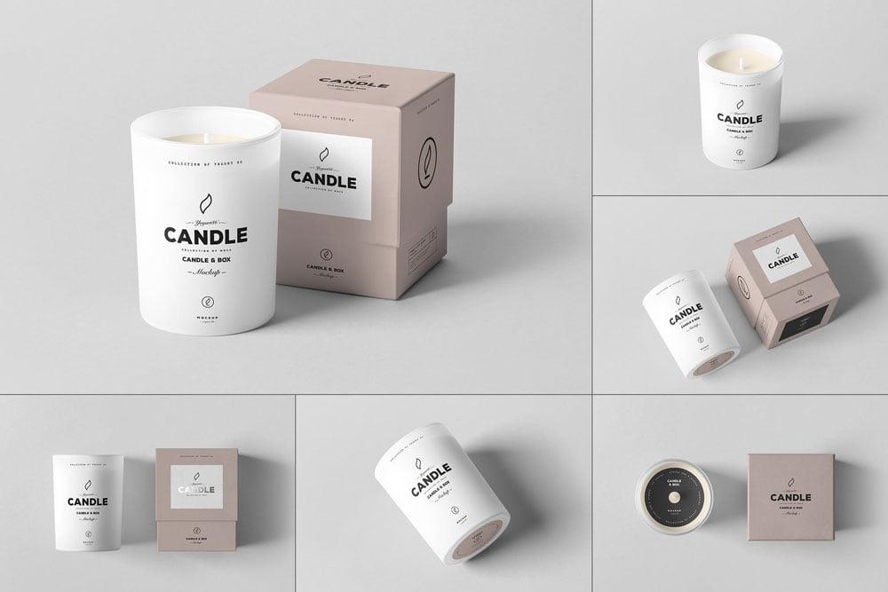 Candle & Box Mock-up