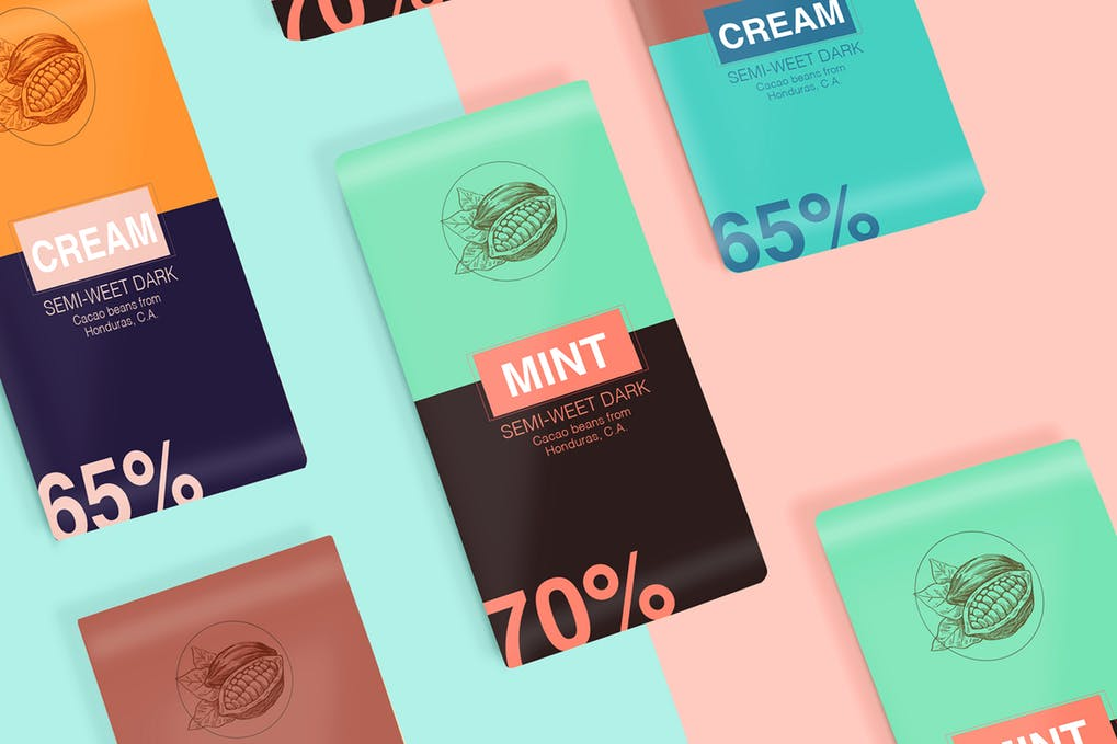 Chocolate Packaging Mock Up