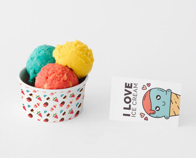 Ice Cream Mockup PSD Templates