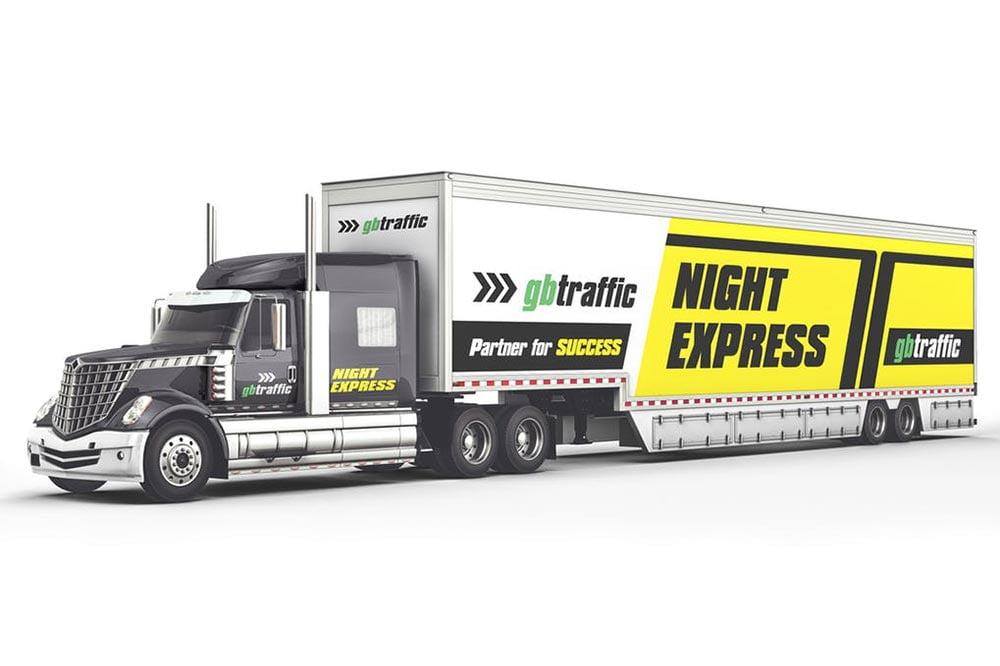 Long Truck Branding Mockup