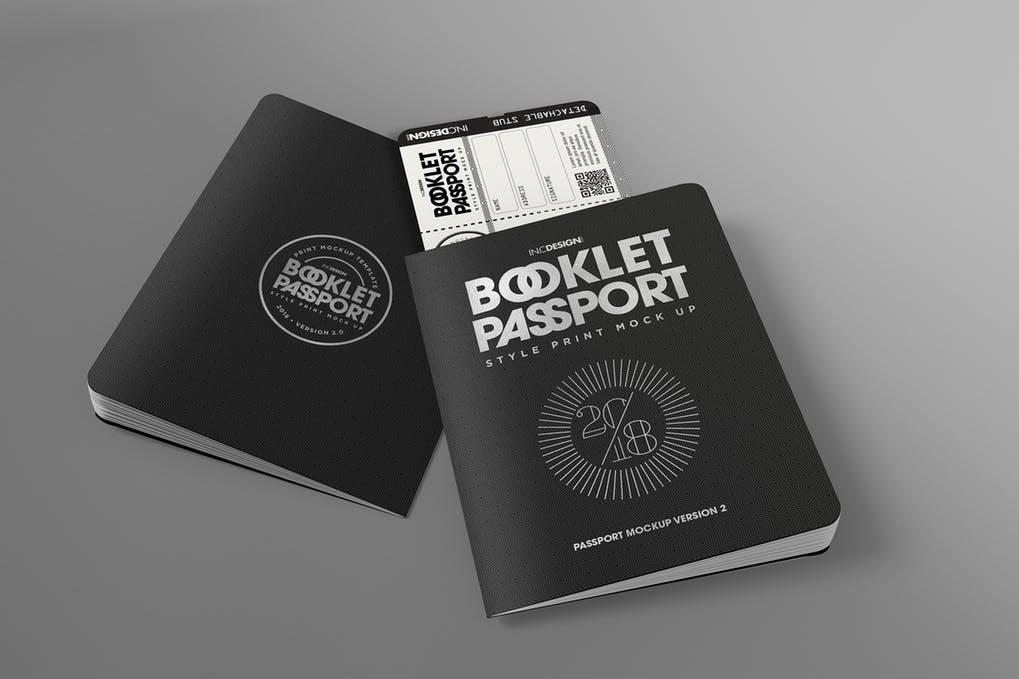 Passport Booklet Mockup