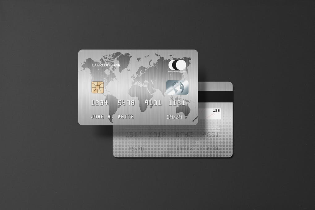 Platinum Credit Card Mockup