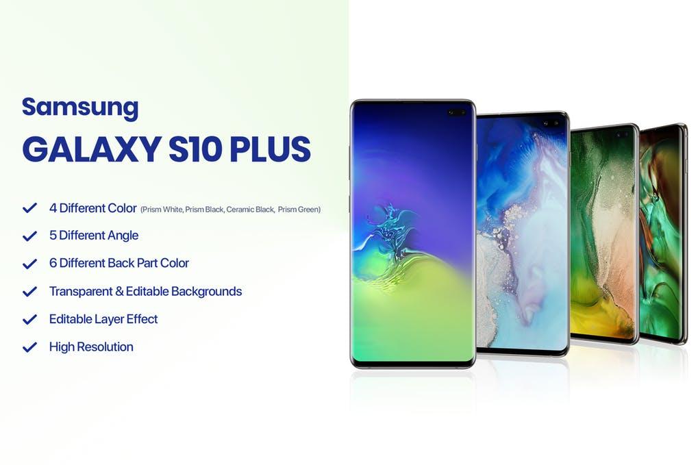 Samsung Galaxy S10 Plus Mockup